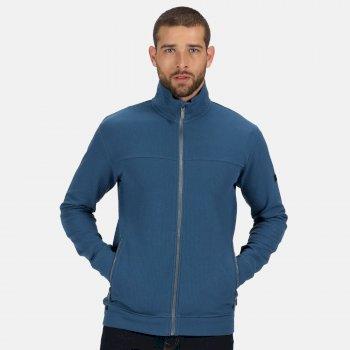 Ives leichter Fleece mit durchgehendem Reißverschluss für Herren Blau