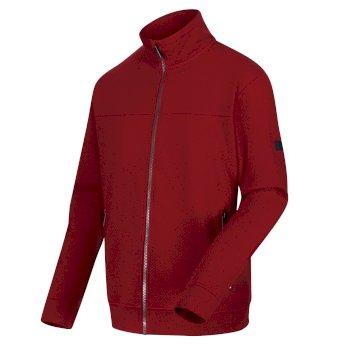 Ives leichter Fleece mit durchgehendem Reißverschluss für Herren Rot