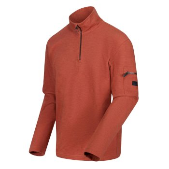 Regatta Men's Tavior Half Zip Coolweave Fleece - Gingerbread