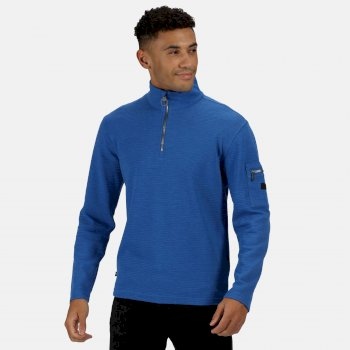 Regatta Men's Tavior Half Zip Coolweave Fleece - Nautical Blue