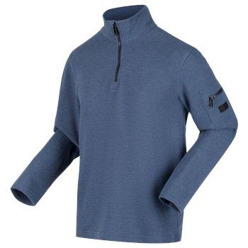 Tavior Fleece mit halblangem Reißverschluss für Herren Blau