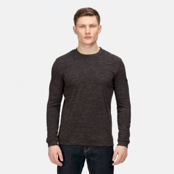 Leith leichtes Sweatshirt mit Rundhalsausschnitt für Herren Grau