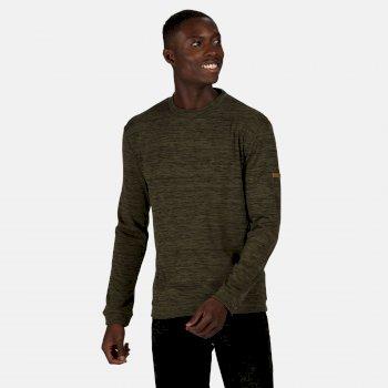 Leith leichtes Sweatshirt mit Rundhalsausschnitt für Herren Grün