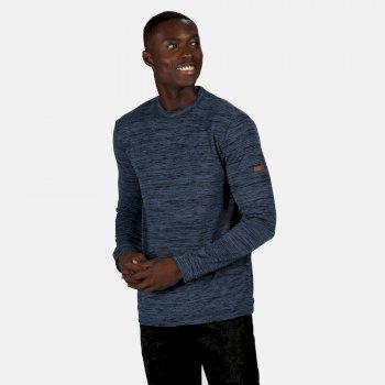 Leith leichtes Sweatshirt mit Rundhalsausschnitt für Herren Blau