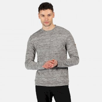 Regatta Men's Leith Lightweight Crew Neck Sweatshirt - Light Steel Marl