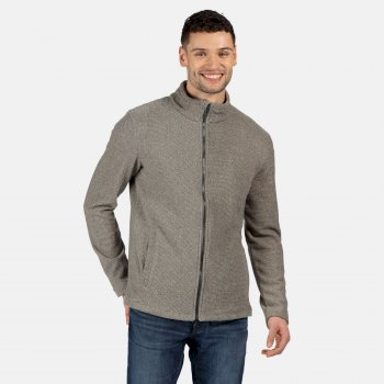 Regatta Men's Esdras Full Zip Honeycomb Fleece - Asteroid Grey Texture