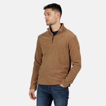 Regatta Men's Edley Half Zip Two Tone Fleece - Dark Camel