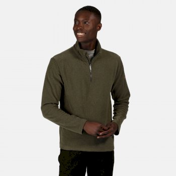 Regatta Men's Edley Half Zip Two Tone Fleece - Dark Khaki