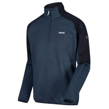 Regatta Men's Highton II Lightweight Half Zip Fleece - Dark Denim Navy