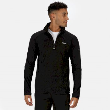 Regatta Men's Highton II Lightweight Half Zip Fleece - Black