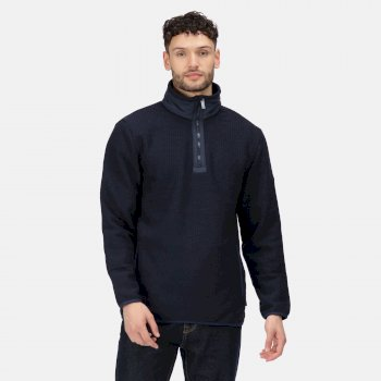 Celestin mittelschweres Fleece mit halblangem Reißverschluss für Herren Blau
