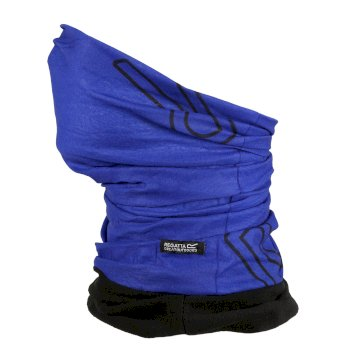 Stretch-Masken-Tunnelschal II mit Fleecefutter für Erwachsene Blau