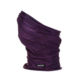 Regatta Adults Fleece Lined Stretch Multitube II Scarf Mask - Purple Potion
