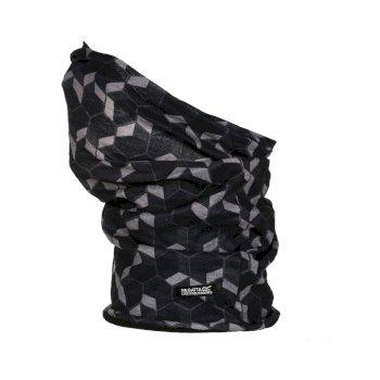 Regatta Adults Fleece Lined Stretch Multitube II Scarf Mask - Magnet Angular Hex