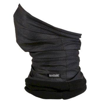Stretch-Masken-Tunnelschal II mit Fleecefutter für Erwachsene Grau