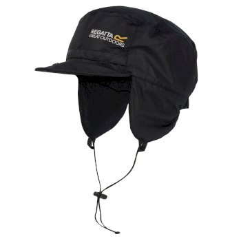 Regatta Men's Padded Igniter Waterproof Trapper Hat - Black