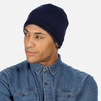 Regatta Men's Balton Cotton Beanie - Navy Black