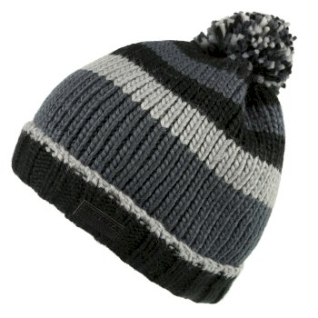 Regatta Davion Knitted Pom Pom Hat - Black Multi