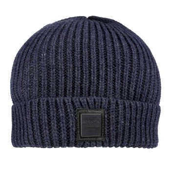 Regatta Harrell Chunky Marl Yarn Knit Hat Navy