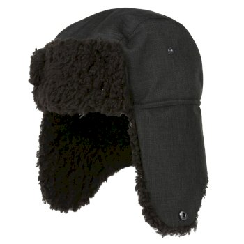 Regatta Men's Halian II Fleece Lined Trapper Hat - Black