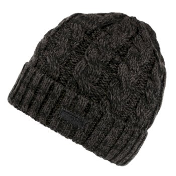 Regatta Men's Harrel III Fleece Lined Cable Knit Hat - Black