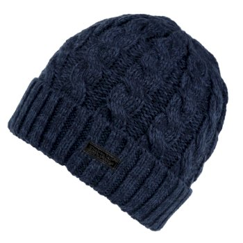 Regatta Men's Harrel III Fleece Lined Cable Knit Hat - Dark Denim