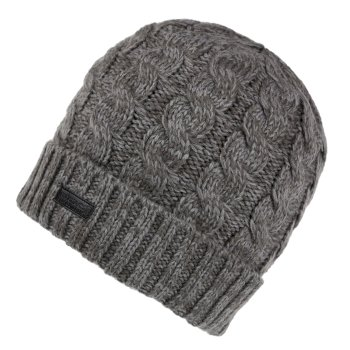 Regatta Men's Harrel III Fleece Lined Cable Knit Hat - Asteroid
