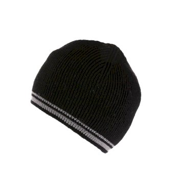 Regatta Men's Balton II Fleece Lined Beanie - Black Asteroid
