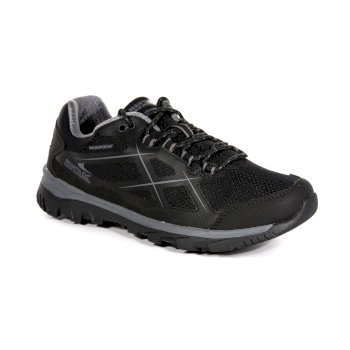 Regatta Men's Kota Low Walking Shoes - Black Granite