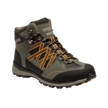 Regatta Men's Samaris II Mid Walking Boots - Dark Khaki Gold