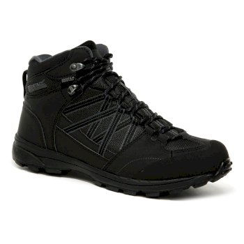 Regatta Men's Samaris II Mid Walking Boots Black Granite
