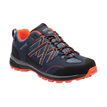 Regatta Men's Samaris II Low Walking Shoes  - Dark Denim Navy Blaze