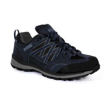 Regatta Men's Samaris II Low Walking Shoes  - Navy Nautical Blue