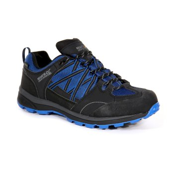 Regatta Men's Samaris II Low Waterproof Walking Shoes  - Oxford Blue Ash