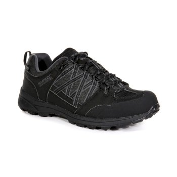 Regatta Men's Samaris II Waterproof Walking Shoes  - Black Granite