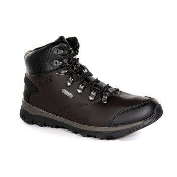 Regatta Men's Kota Leather Mid Walking Boots Peat Treetop