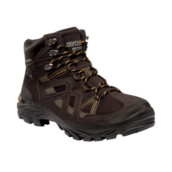 Men's Burrell II Vibram Walking Boots Peat Treetop