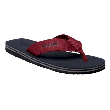 Regatta Men's Rico Flip Flops - Navy Delhi Red