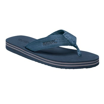 Regatta Men's Rico Flip Flops - Seal Grey Stellar Blue