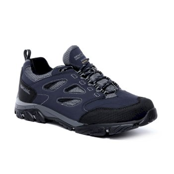 Regatta Men's Holcombe IEP Low Waterproof Walking Shoes - Navy Granite