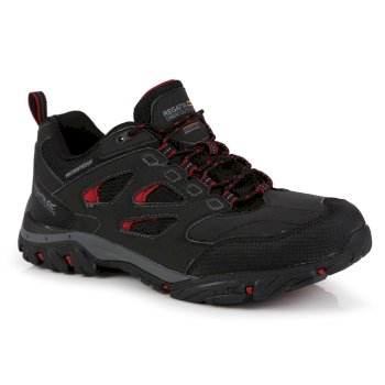 Regatta Men's Holcombe IEP Low Waterproof Walking Shoes - Ash Rio Red