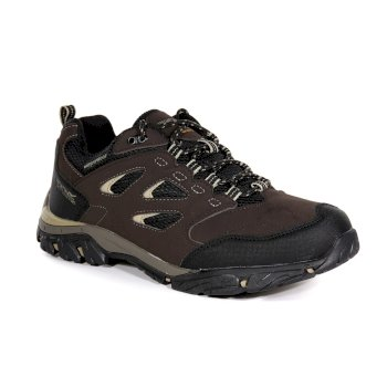 Regatta Men's Holcombe IEP Low Waterproof Walking Shoes - Peat Gold Fawn