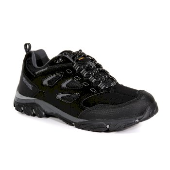 Regatta Men's Holcombe IEP Low Waterproof Walking Shoes - Black Granite