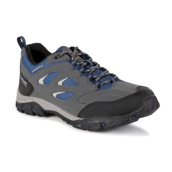 Regatta Men's Holcombe IEP Low Walking Shoes - Granite Blue Wing