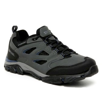 Regatta Men's Holcombe IEP Low Waterproof Walking Shoes - Granite Dark Denim