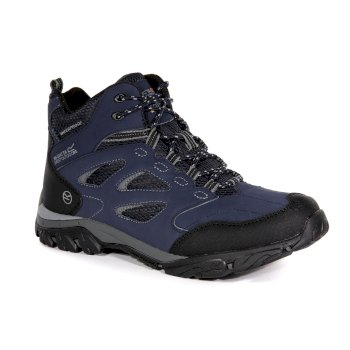 Regatta Men's Holcombe IEP Mid Waterproof Walking Boots - Navy Granite