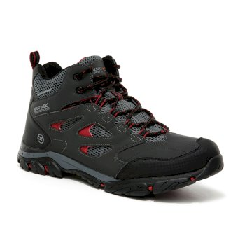 Regatta Men's Holcombe IEP Mid Waterproof Walking Boots - Ash Rio Red