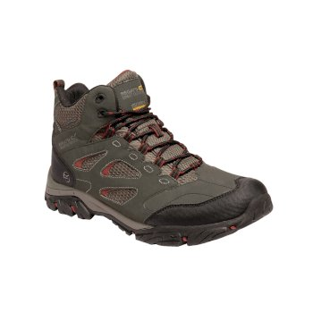 Regatta Men's Holcombe IEP Mid Walking Boots - Dark Khaki Brandy Brown