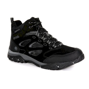 Regatta Men's Holcombe IEP Mid Waterproof Walking Boots - Black Granite