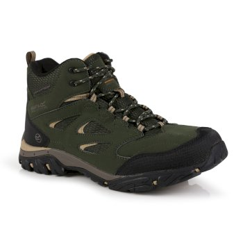 Regatta Men's Holcombe IEP Mid Waterproof Walking Boots - Bayleaf Oat